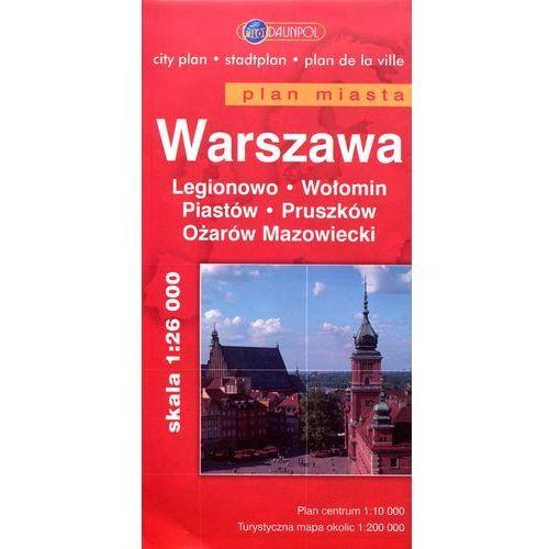Warszawa Legionowo Wołomin Piastów Pruszków Ożarów Mazowiecki mapa 1:26 000 Daunpol (2012)