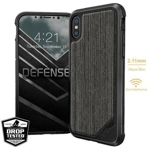 defense lux - etui aluminiowe iphone x (stripes fabric) marki X-doria