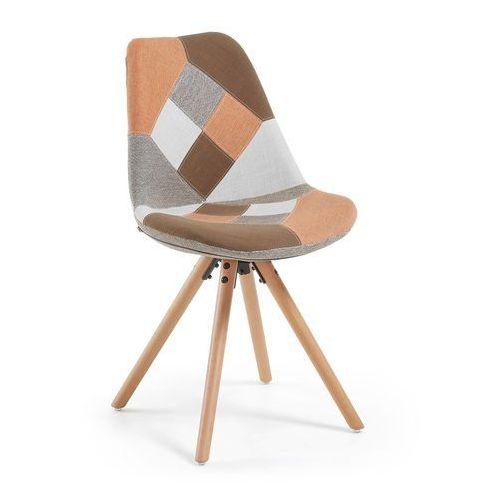 Laforma :: krzesło lars pomarańczowe (nogi drewniane) - pomarańczowy