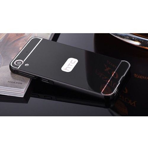 Mirror Bumper Metal Case Czarny   Etui dla HTC Desire 626 - Czarny, kolor czarny