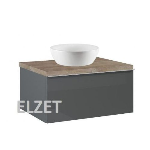 Elita szafka look 1s anthracite pod umywalkę nablatową + blat 60 dąb classic 167076+166897