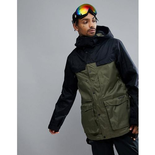 snow timber bzs ski jacket 15k waterproof parka fit in dark green - green, Oakley