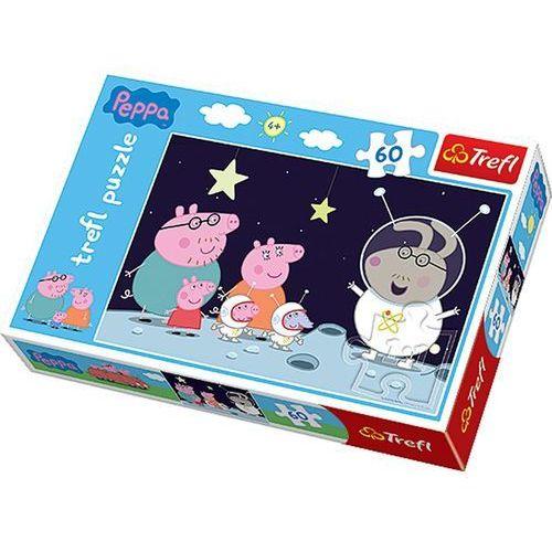 Trefl Puzzle 60 podróż na księżyc. świnka peppa