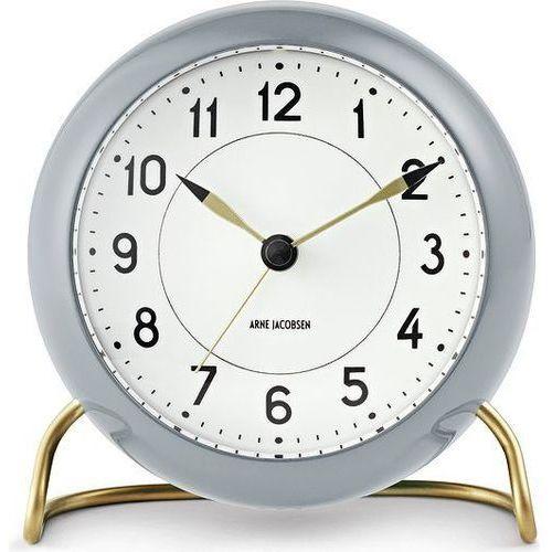 Budzik Station biały/szary - Arne Jacobsen (5709513436744)