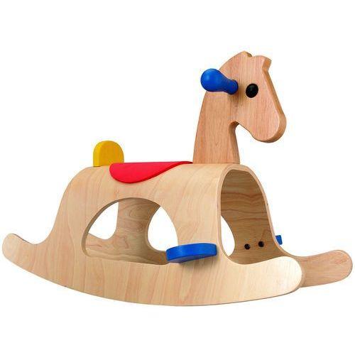 koń na biegunach palomino, drewniany marki Plan toys