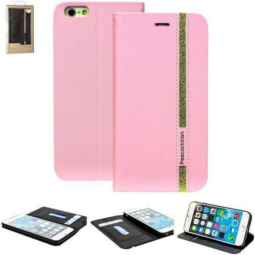 Etui flip do iphone  4260481640874, pasuje do modelu telefonu: apple iphone 6, apple iphone 6s, różowy marki Perlecom
