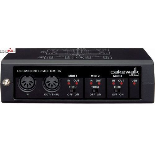 Cakewalk um-3g - interface midi 3in, 3out marki Roland