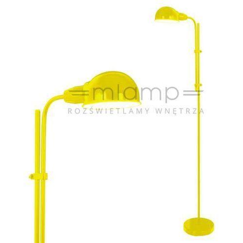Retro lampa podłogowa 2043915 metalowa oprawa stojąca żółta marki Nave