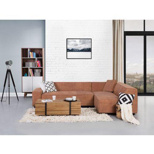 Sofa koniakowa - Narożnik skórzana - ADAM L z kategorii Narożniki