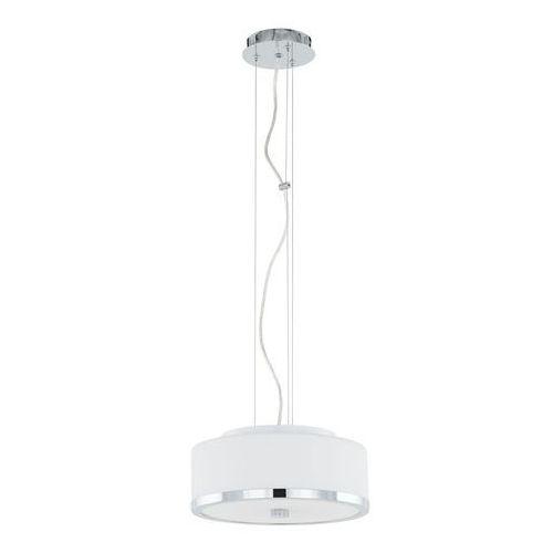 LAMPA wisząca LORIS MA01806CD-002 Italux okrągła OPRAWA zwis chrom biały, kolor Biały