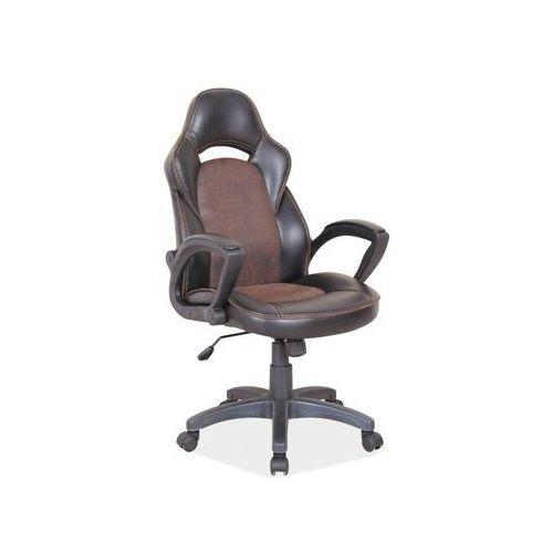 Fotel obrotowy, krzesło biurowe q-115 brown marki Signal