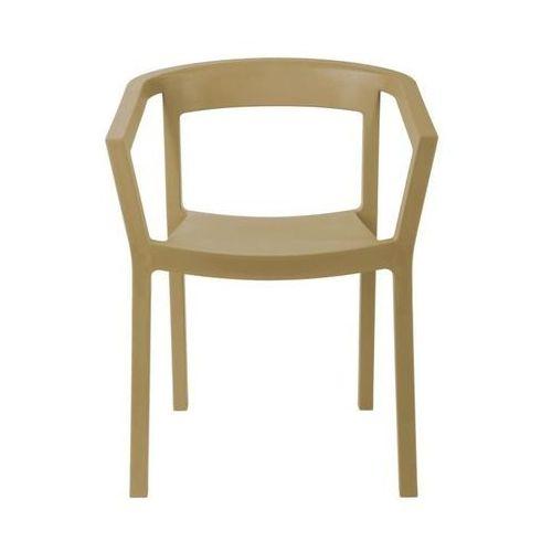 Krzesło Peach - piaskowy, kolor beżowy