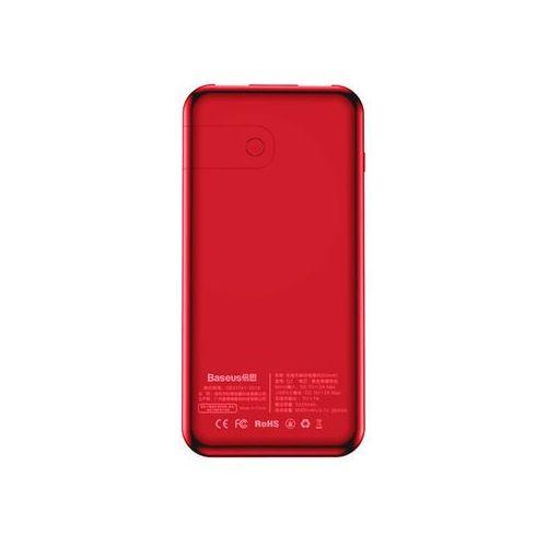 Baseus Power Bank 8000mAh 3.7V ładowarka QI 2x USB czerwony - Czerwony, 70C1-590FE_20181009152930