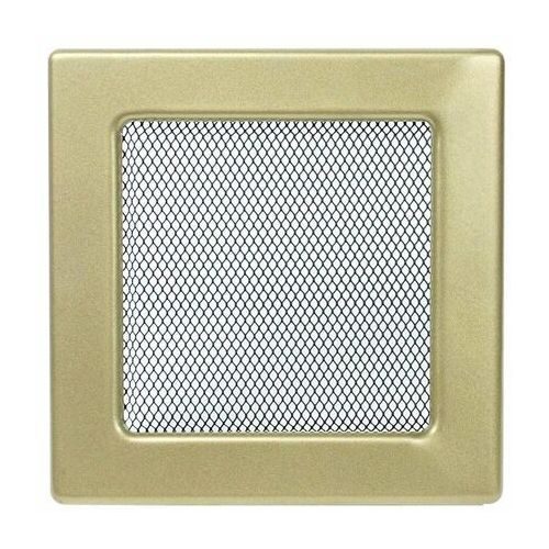kratka kominkowa prostokątna złoto galwaniczne 170x170 mm marki Kratki