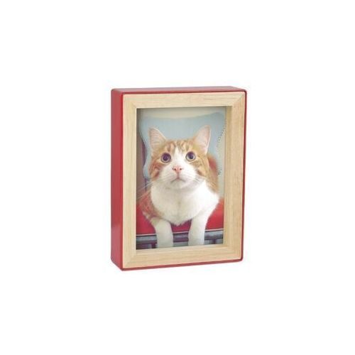 - ramka na zdjęcia fotoblock 5 x 7 - czerwona/naturalne drewno marki Umbra