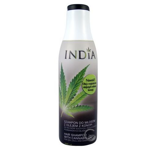 Odżywczo - odbudowujący szampon do włosów z olejem konopnym 400ml India, 5906489818912