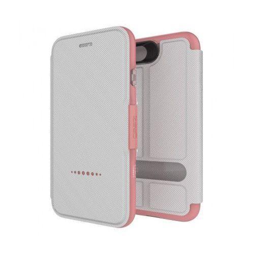Etui  d3o oxford iphone 7 - biało różowy marki Gear4