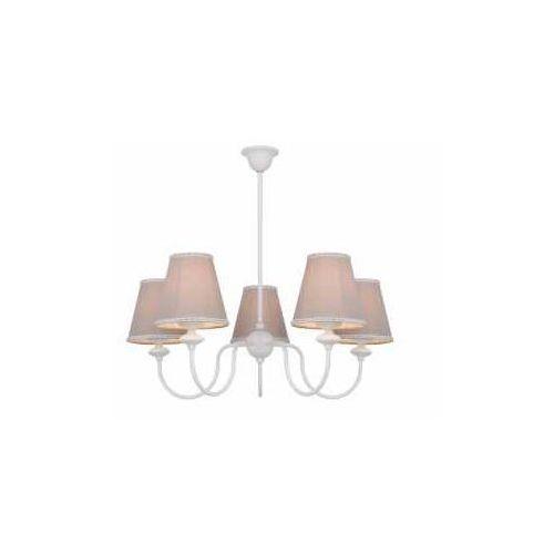 Aldex rafaello ii 1025f lampa wisząca zwis 5x40w e14 biały/beżowy