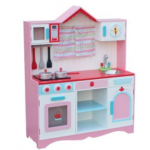 Wooden toys Duża drewniana kuchnia dla dzieci country 2 z wyposażeniem
