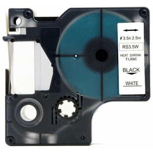Aimotech Rurka (koszulka) termokurczliwa zamiennik do dymo, średnica 3.5mm, szer. wydruku 6mm, dł. 2.5m, biała, czarny nadruk rs3.5w