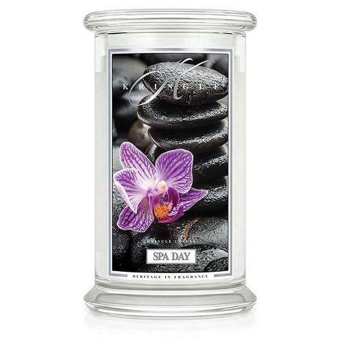 Kringle candle Spa day świeca zapachowa duży słoik 22oz, 623g, 2 knoty