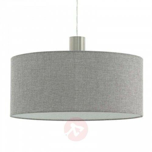 Tekstylna lampa wisząca Concessa szara Ø 53 cm, 25158550565