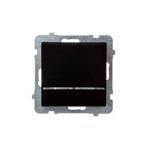 Łącznik kontrolny z podświetleniem Czarny metalik - ŁP-12RS/m/33 Sonata (5907577446109)