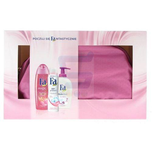 Zestaw kosmetyków Fa z kosmetyczką (żel pod prysznic 250ml+antyperspirant 150ml+mydło wpłynie 250ml)