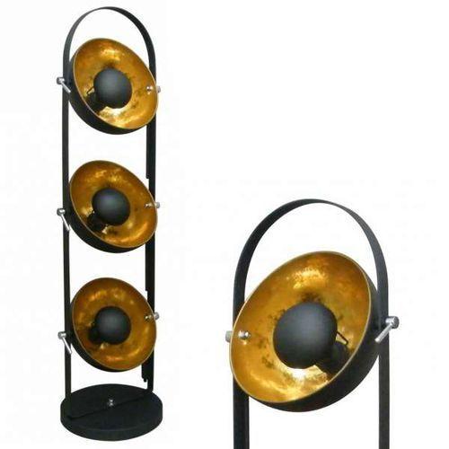 Zumaline Nowoczesna lampa podłogowa antenne ts-130801f-bkgo oprawa stojąca z odbłyśnikiem kopuły xirena laki złote czarne