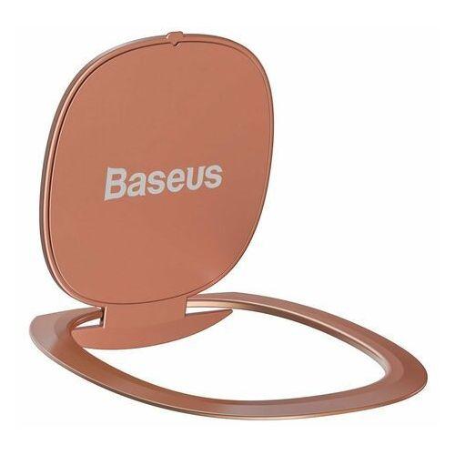 Baseus ultracienki samoprzylepny uchwyt ring podstawka do telefonu różowy (SUYB-0R) - Różowy