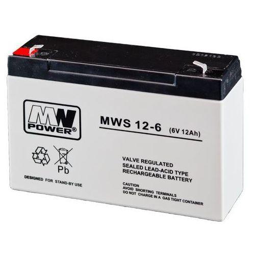 Mw power Akumulator agm mwp mws 12-6 (6v 12ah) (5902135137642)