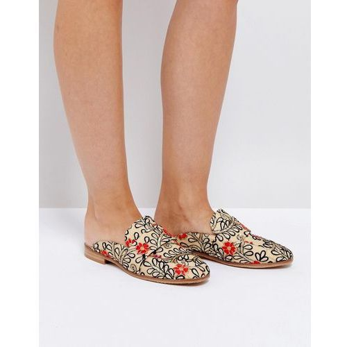 brocade loafer with embroidery and sequin detail - white, Free people