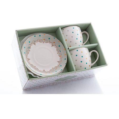 Livello 2 filiżanki z porcelany groszki kropki na prezent