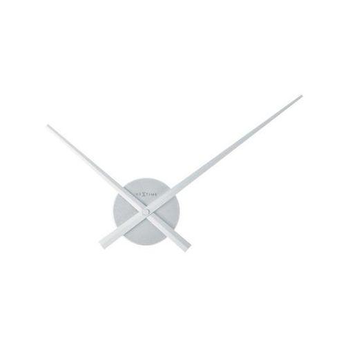 Zegar ścienny 48 cm mini hands srebrny marki Nextime