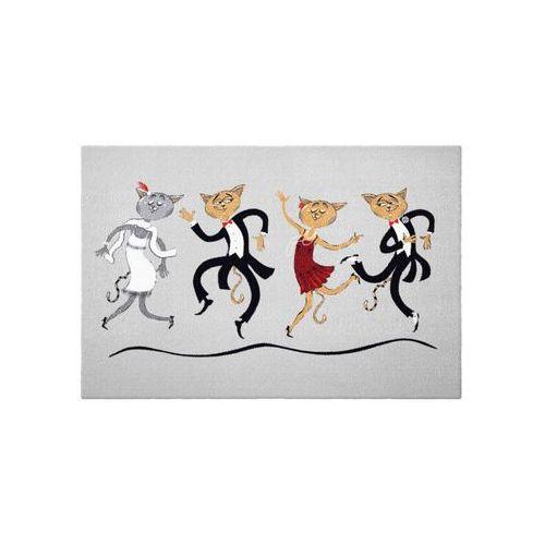 Bonprix Wycieraczka w koty szary