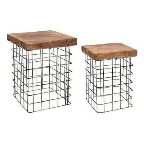 Zestaw stołków Rize Square, 125146 (10431172)