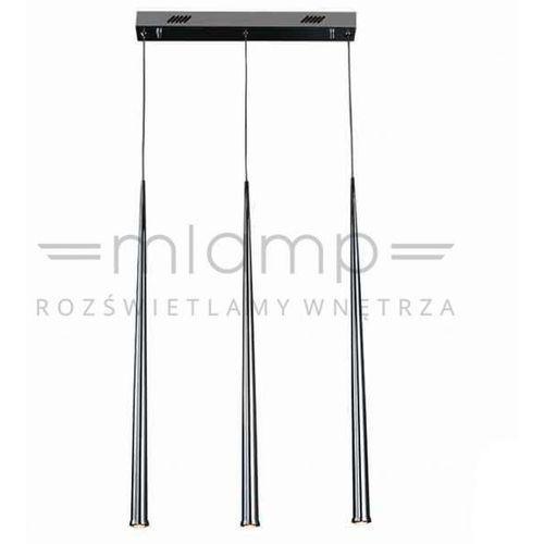 Lampa wisząca asta iii metalowa oprawa zwis led 9w 3000k listwa sufitowa sople chrom marki Orlicki design
