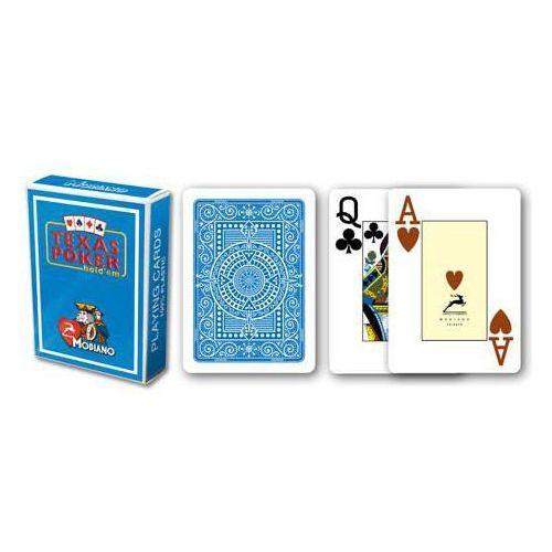 2 rogi 100% karty plastikowe - jasno niebieskie marki Modiano