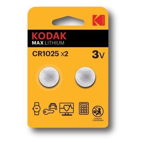 KODAK BATERIE LITOWE CR 1025 BLISTER X 2 SZT. - 30417724- Zamów do 16:00, wysyłka kurierem tego samego dnia!