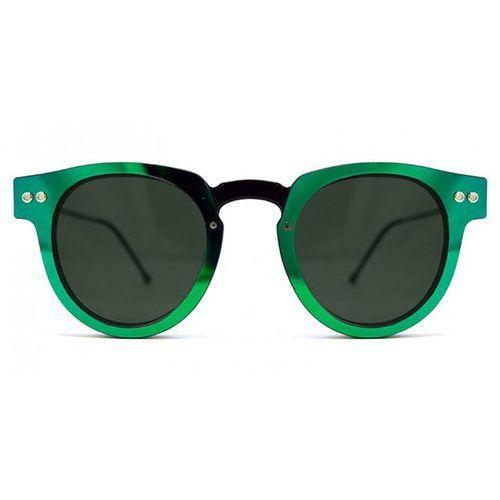 Okulary Słoneczne Spitfire Sharper Edge Select Double Lens Black/Green Mirror/Black, kolor zielony