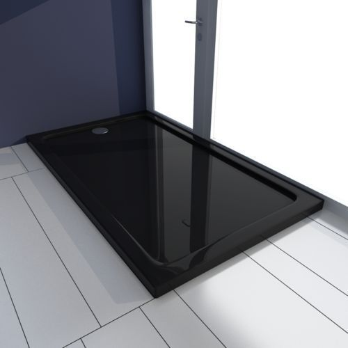 Vidaxl  brodzik prysznicowy prostokątny abs czarny 70 x 120 cm