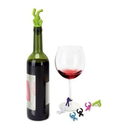 Zatyczka do wina z 6 znacznikami na kieliszki Umbra Drinking Buddy, 480320-022