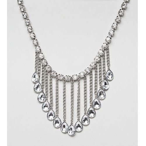 Liars & Lovers oversized statement rhinestone collar - Silver