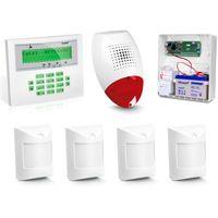Satel Zestaw alarmowy integra 24, klawiatura lcd, 4 czujniki ruchu, sygnalizator zewnętrzny sp-500