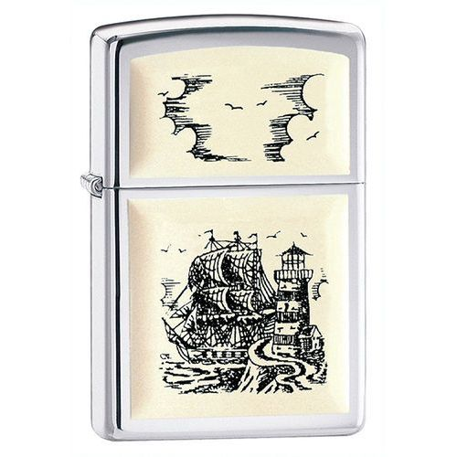 Zapalniczka  ship emblem, high polish chrome marki Zippo
