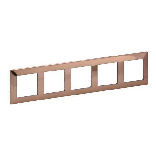 VALENA LIFE Ramka pięciokrotna miedziana 754165 Legrand, kolor brązowy