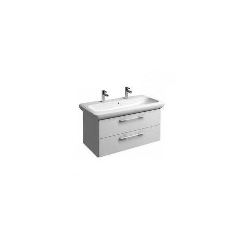 Koło szafka + umywalka z 2 otworami na baterie life! 100 biały połysk 89460-000+m21510000