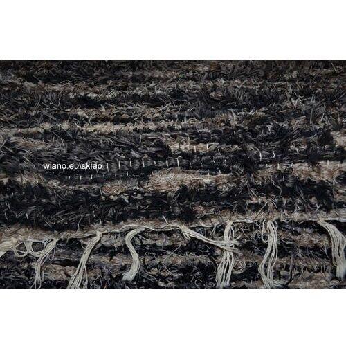 Chodnik bawełniany, ręcznie tkany, czarno-szaro-beżowy 65x200
