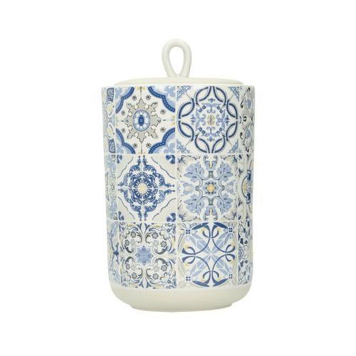 Dekoria pojemnik z pokrywką casa decor blue 950ml, 11 × 11 × 15,5 cm
