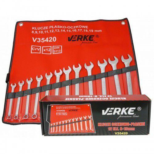 Klucze płasko-oczkowe 12 el 8-19mm pokrowiec premium line marki Verke